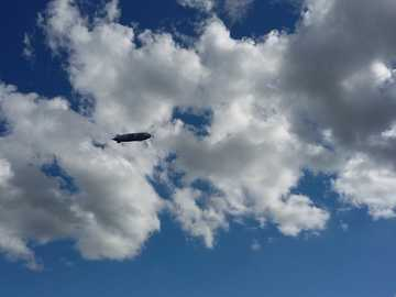 airship against the sky - a beautiful summer day and even more beautiful memories