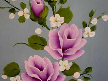 Kwiaty z mojego ogrodu - Pociągnięcia pędzlem przedstawiające rozmycie i jego kontur
