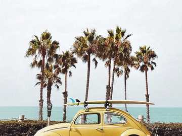 Żółty garbusek - Στο δρόμο για την παραλία