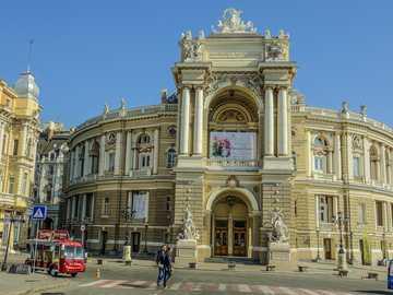 Ville d'Odessa en Ukraine - Bâtiment du théâtre à Odessa