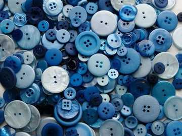 Buttons :) - 1001 trifles - blue buttons