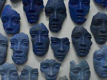 Mascaras de ceramica - Rostros humanos