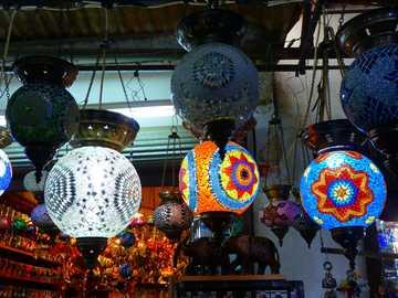 linternas de colores - linternas lindas orientales de colores