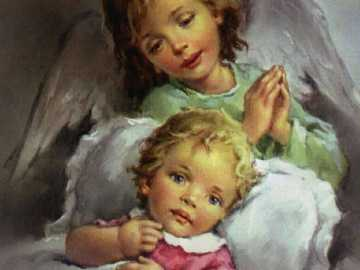 Our protective Angel - He guides us with tenderness and love from birth.