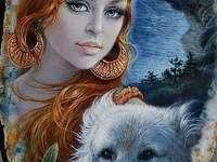 Thara și lupul ei alb