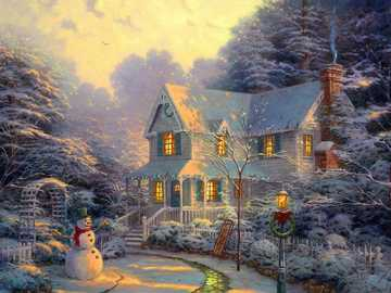Cottage in winter - Beautiful, cozy and above all, WINTER cottage, I wish you a nice laying!