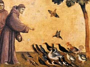Saint Francis of Assisi painting - Puzzles for 3-6 year olds