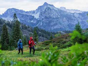 Walk in the mountains - A walk in the mountains, mountains, a couple in the mountains,
