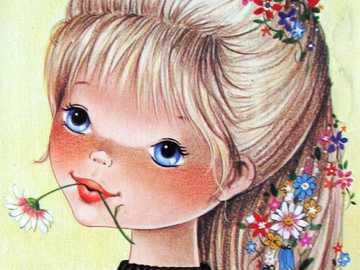 Vintage Figuren: Blumenmädchen - Vintage Figuren: Blumenmädchen