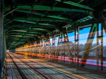 Warsaw bridges and lights - Warsaw bridges and lights