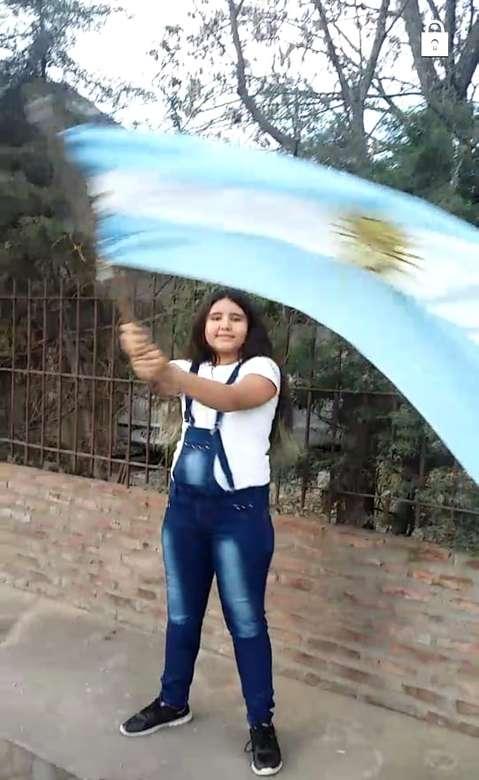 Šťastný den Argentina vlajka skládačka