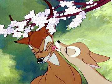 Bambi puzzle - Puzzle z kultowego filmu. Układanka ma 48 elementów kategoria średnie.