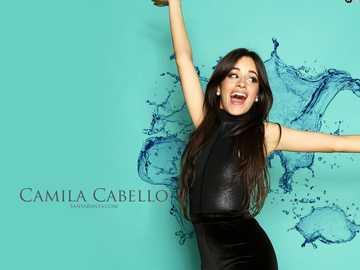 Camila Cabello - Könnyű puzzle Camila Cabello-val, 30 elemet tartalmaz.