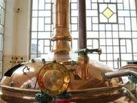 Машина за пивоварна - Пъзел на сутиена на музея на CNAM в Париж