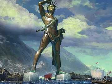Der Koloss von Rhodos - Bronzestatue des Sonnengottes Helios aus dem Jahr 290 v. - Auf die Insel Rhodos
