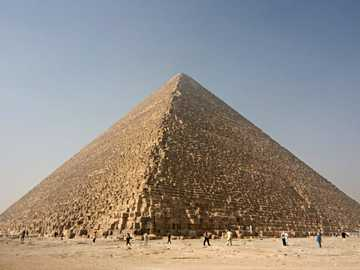 The Pyramid of Cheops - The Great Pyramid of Cheops at Giza, built by Pharaoh Cheops - 2560 BC.