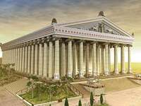 il tempio di Artemide - il più grande tempio dell'antichità - costruito a Efeso