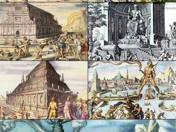 Seven Wonders of the World - the seven wonders of the world - together