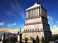 o mausoléu em Halicarnasso - o túmulo do rei mausoléu