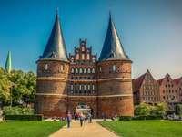 Lubecka city - German city - Holstein Gate