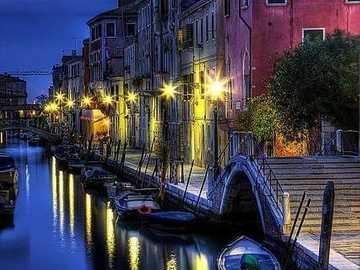 Venice by night. - Europe. Italy. Venice.