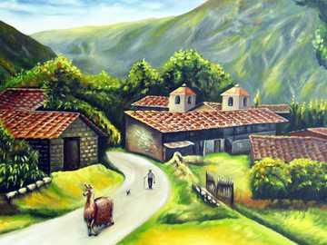 Sierra Landscape - Krajobraz wsi w Sierra