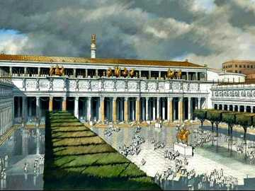 ROME PUZZLES - It is the largest forum, it had everything necessary for the development of Roman civic life and eve