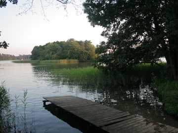 A bridge on the lake - Wooden jetty on the lake