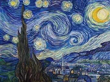 Starry Night - Starry Night is the masterpiece of post-impressionist painter Vincent Van Gogh. Located at MoMA