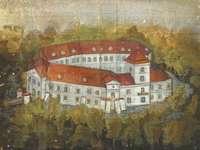 Pułtusk-kasteel - Kasteel van Płock-bisschoppen in Pułtusk. Voltooi de puzzel met het kasteel Pułtusk. Regel het ka