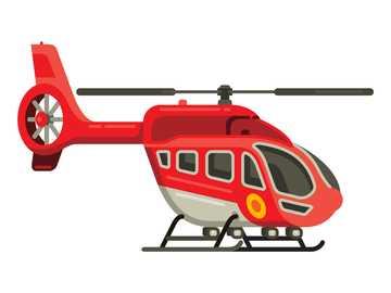 Puzzle helikoptera - Ułóż układankę helikoptera