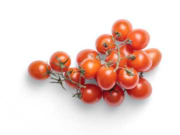 Bunch of tomato - red tomatoes on white background.