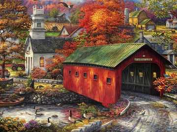 Rural buildings. - Puzzle: rural buildings.