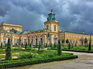 Palace in Wilanów - residence of Polish kings Warsaw