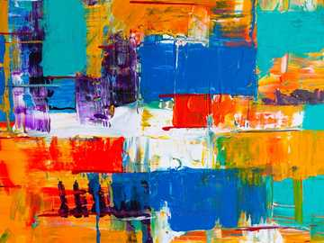 Malarstwo abstrakcyjne - wielokolorowe malarstwo abstrakcyjne.