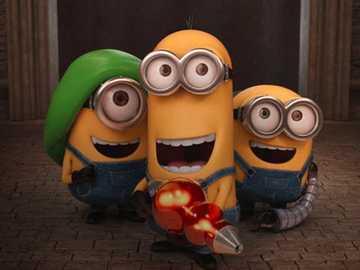 Minionki (10+) - Minionki to film animowany dla dzieci. Moje puzzle mają 126 elementów to tylko puzzle dla intelige