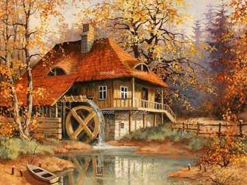 stary młyn - stary młyn jesienią