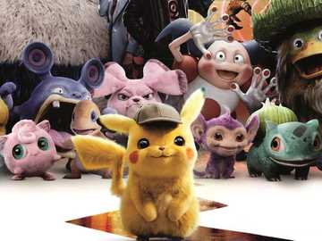 Pikachu detective - I recommend watching a nice movie.