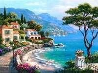 petite ville sur la plage