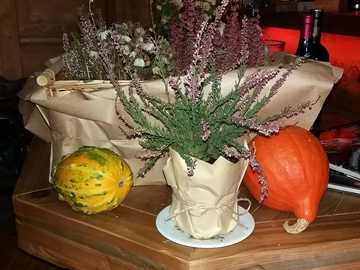 table decoration with pumpkin - table decoration with pumpkin