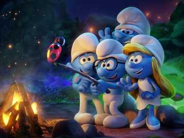 The Smurfs movie. - I recommend watching the Smurfs movie.