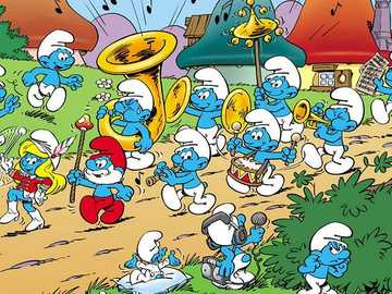 """The Smurfs - a fairy tale - """"Smurfs"""" fairy tale for children."""