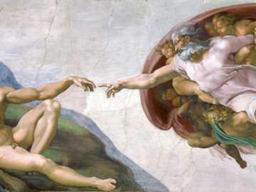 Stworzenie Adana - Dzieło Adama to fresk w sklepieniu Kaplicy Sykstyńskiej, namalowany przez Michała Anioła około