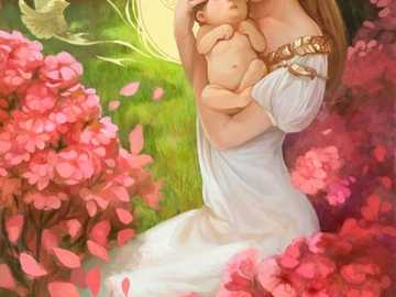 Beautiful image of mom with her son. - Beautiful image of mom with her son.