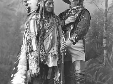 Sitting Bull and Buffalo Bill - Sitting Bull and Buffalo Bill- photo from 1885