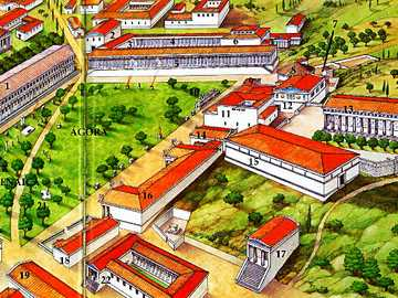 AGORA OF ATHENS - It occupied a central place in the city plan and was an open area, there was also a commercial one t