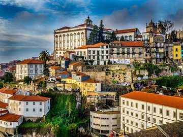 Porto, Portugal - Porto, Portugal - buildings on the hill