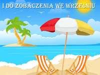 Skvělá dovolená - Παζλ με την παραλία και ευχές για υπέροχες διακοπές