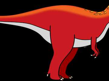 T-Rex red - Red T-Rex for Pre-K students. Dinosaurs are of high interest to the students.