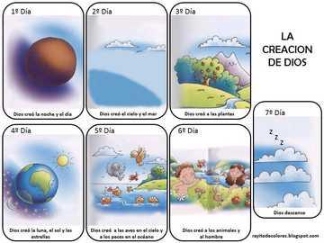 Kreacja - Musimy ułożyć puzzle stworzenia, w których Bóg stworzy każdego dnia.